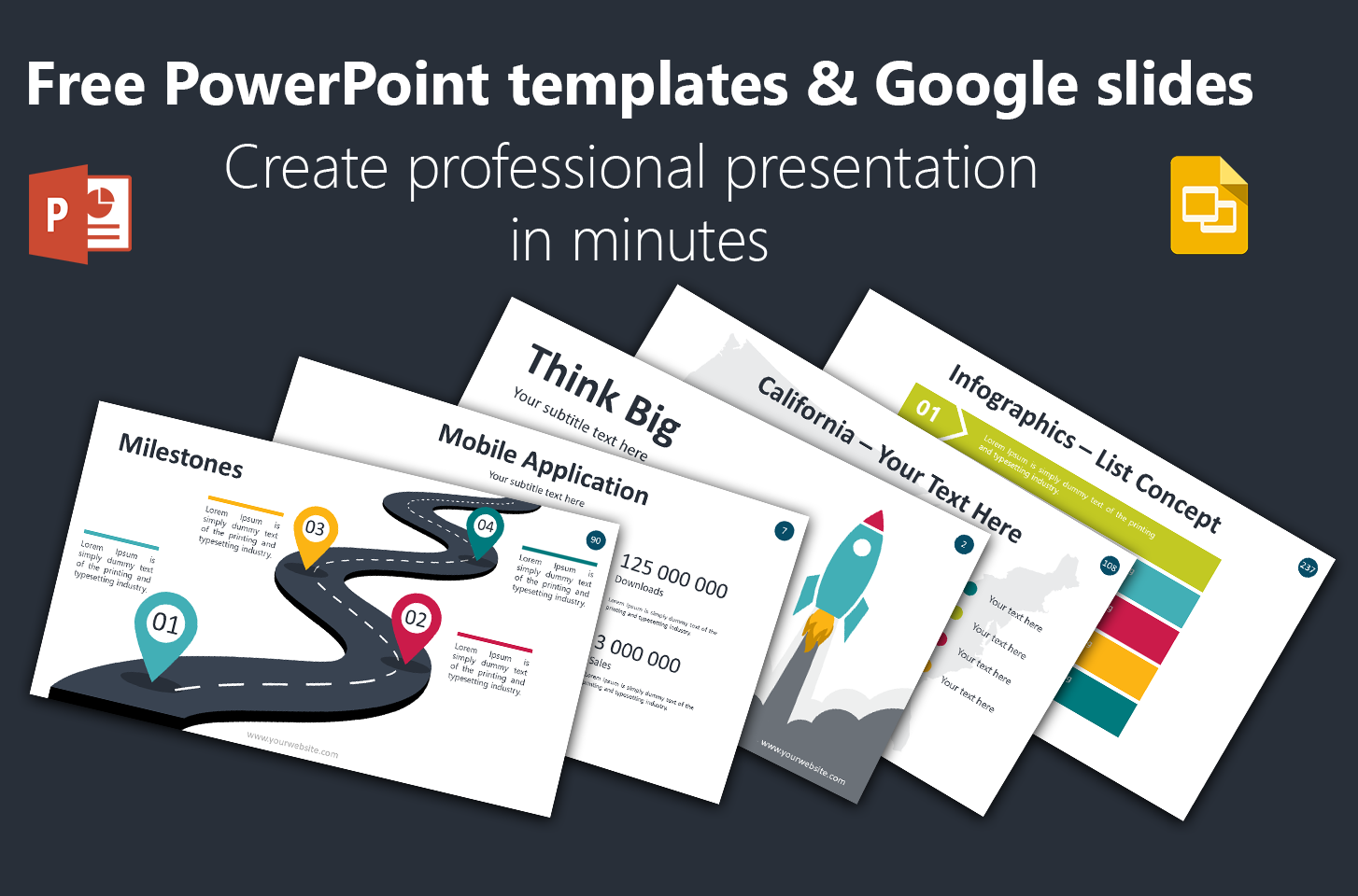Free PowerPoint templates & Google slides. Create professional presentation  in minutes.