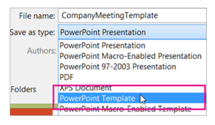 Save A New PowerPoint Template And Apply It To Your Presentation